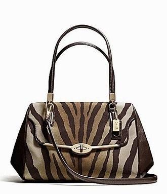 Review Tas Branded Wanita Terbaru: Tas Coach Madison Madeline EW Satchel S (Zebra) | Tas Wanita Cantik | Scoop.it