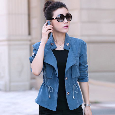 2015 spring short jacket female plus size slim elegant solid color thin all-match spring and autumn female short jacket   CHICS & FASHION   Scoop.it
