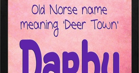 The Art of Naming: Darby   Baby Names   Scoop.it