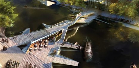 Pedestrian Bridge in Amsterdam: an extension of the public realm | green streets | Scoop.it