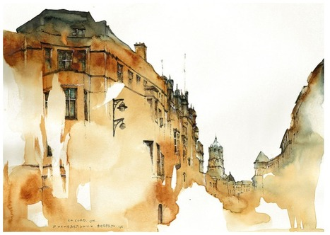 Dreamy Architectural Watercolors by Sunga Park...   Art for art's sake...   Scoop.it