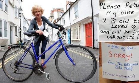 'A great big fat... SORRY!': Cyclist gets bike back | This Gives Me Hope | Scoop.it