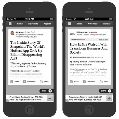 Inside Forbes: We're Diving Into the Era of News Streams With Breakthrough Mobile Products | Social Media, SEO, Mobile, Digital Marketing | Scoop.it