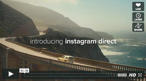 Instagram lance Instagram Direct pour partager des photos / vidéos avec quelques amis | CM | Scoop.it