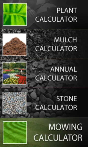 Plant, mulch, annuals, stone, and mowing calculators | Garden apps for mobile devices | Scoop.it