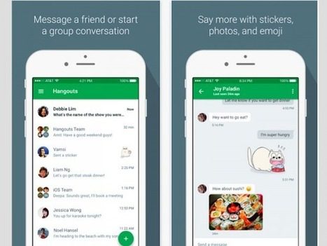 Google Hangouts Now Available On The Apple Watch | Cool School Ideas | Scoop.it