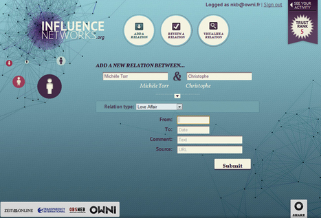 Influence Networks: mode d'emploi » OWNI | Time to Learn | Scoop.it