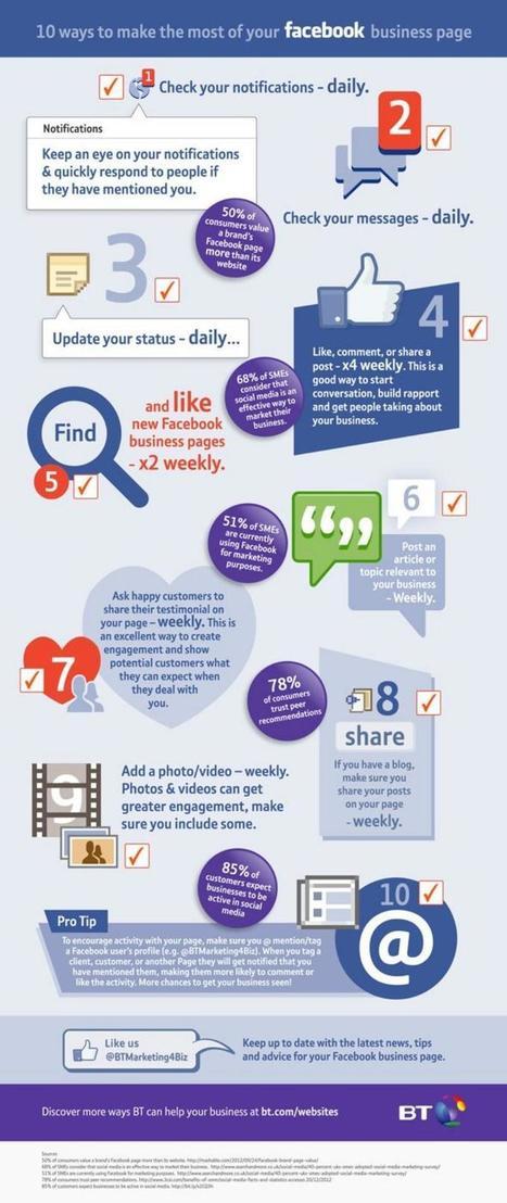 Consejos para sacar más provecho a tu página de Facebook (infografía) | E-Learning, M-Learning | Scoop.it