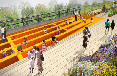 Plant-filled amphitheatre proposed for the High Line's final stretch | Cities of the World | Scoop.it