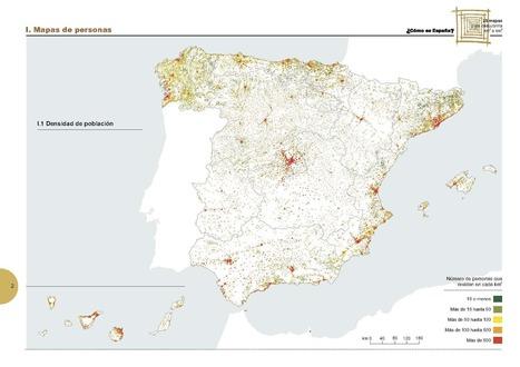 España en 25 mapas, libro gratuito del INE | Escuela y virtualidad | Scoop.it