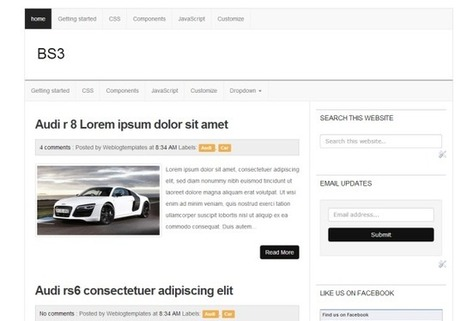 BS3 Responsive Blogger template - Powered by Bootstrap 3 | Blogspot templates | Scoop.it
