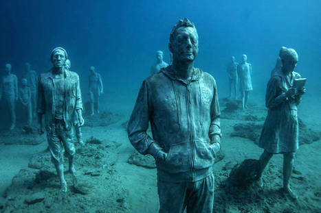 Underwater Museum Installation in Lanzarote Featuring Human Sculptures | Histoires d'Epaves | Scoop.it