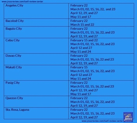 2014 TOEFL iBT Test Dates in the Philippines ~ TOEFL Review - Tips on How to Pass the Exam   TOEFL REVIEW   Scoop.it