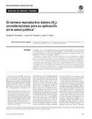 El número reproductivo básico (R0): consideraciones para su aplicación en la salud pública | Salud Publica | Scoop.it