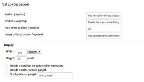 Embedding feeds in google sites - Desktop Liberation | desktop liberation | Scoop.it