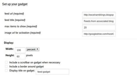 Embedding feeds in google sites - Desktop Liberation | desktop liberation | Scoop.it