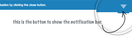 Web Design: Hide / Show Notification Bar With CSS3 | HTML5 Javascript CSS3 | Scoop.it