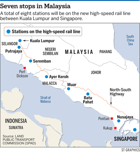 Malaysia confirms its Singapore-Kuala Lumpur high-speed rail stations | Singaporre Loans | Scoop.it