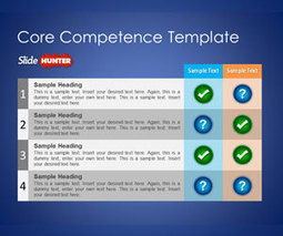 Free Core Competence PowerPoint Template - Free PowerPoint Templates - SlideHunter.com | checklist powerpoint | Scoop.it