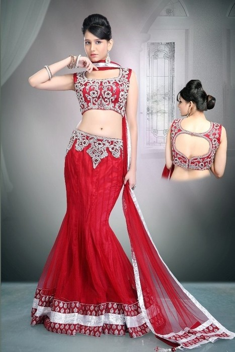 Gravity Fashion - Ready Made  Alluring Red Lehenga Choli | If loving Fashion is a Crime, We Plead Guilty | Scoop.it