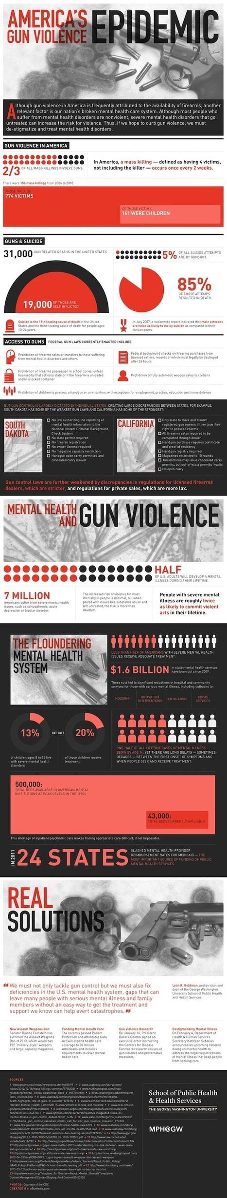 America's Gun Violence Epidemic [Infographic] - MPH@GW | gun control | Scoop.it