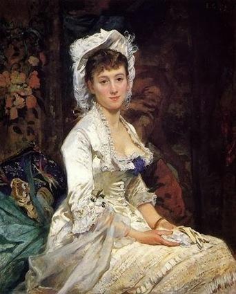 Arte XIX: Retrato de una mujer de blanco   El Arte del siglo XIX   Scoop.it
