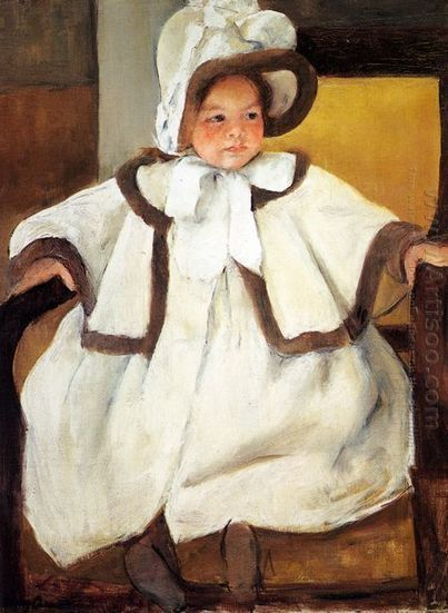Oil painting reproduction: Mary Cassatt Ellen Mary Cassatt In A White Coat - Artisoo.com | arts&oil | Scoop.it