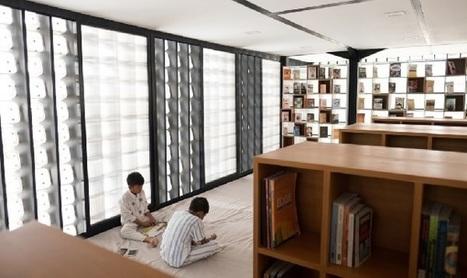 Une petite bibliothèque construite avec des bacs de crème glacée | Bibliothèques en évolution | Scoop.it