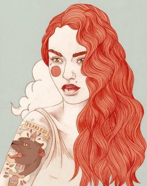 Portraits tatoués illustrés par Liz Clements | À toute berzingue… | Scoop.it