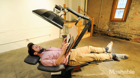 """This $5,900 workstation lets you work lying down"" 