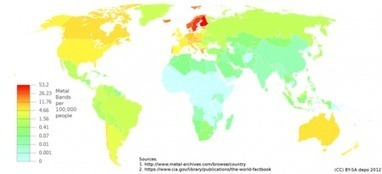 Where Metal Music Rules: A World Map Of Heavy Metal Bands Per Capita | MUSIC:ENTER | Scoop.it