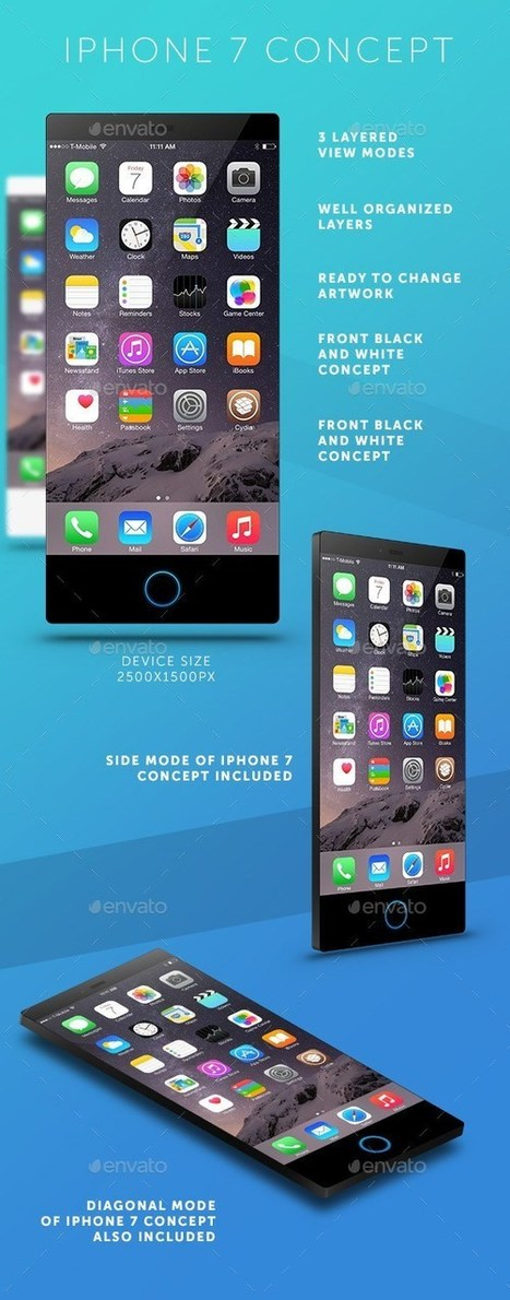 25+ Best Apple iPhone 7 Mockup PSD and Sketch Templates | Templates | Scoop.it
