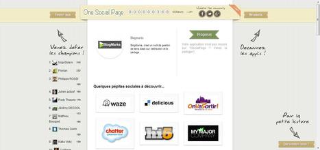 1SocialPage : site communautaire destinée à faire découvrir les applications sociales   Time to Learn   Scoop.it