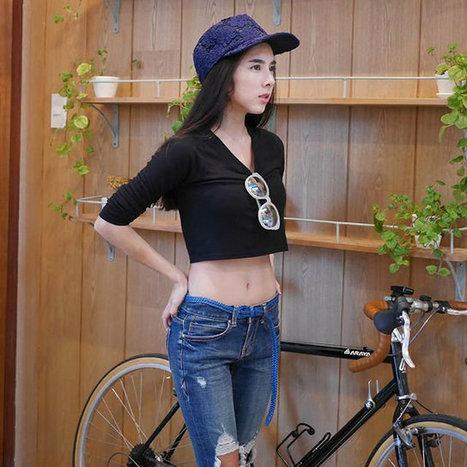 แฟชั่นหน้าท้องแบนราบของ เบเบ้ เน็ตไอดอลรุ่นแรก | fashion in Thailand | Scoop.it