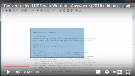 How to convert a dead PDF to Microsoft Word format with Wordfast Anywhere (with video) (by Dominique Pivard) | Translator Tools | Scoop.it