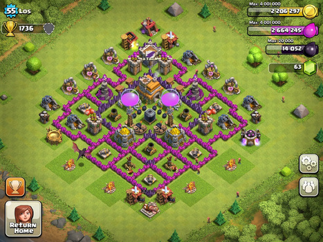 Top 10 Clash Of Clans Town Hall Level 7 Defense Base Design| | Thats My Top Ten | Scoop.it