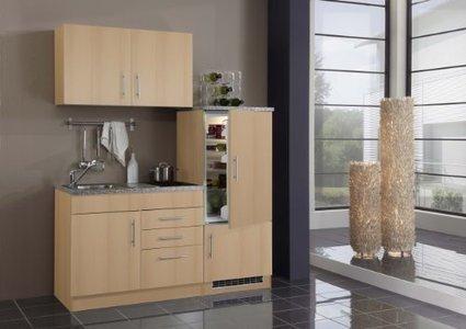 *-* Günstige –    Held Möbel 904.6510 Single-Küche 160 mit 2-er Glaskeramikkochfeld und Kühlschrank mit Gefrierfach, buche | Spülenschrank Günstig | Scoop.it