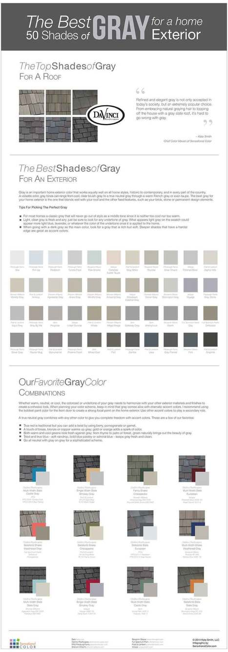 The Best 50 Shades Of Gray For A Home Exterior {Infographic} | Color For Your Home | Scoop.it