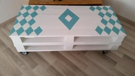 Salon de jardin et mon claustras en palettes - Realiser une table basse en palette ...