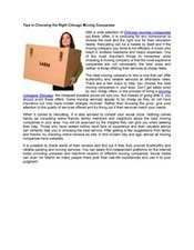 Tips to Help you Choose the Right Chicago Moving Companies | Business | Scoop.it