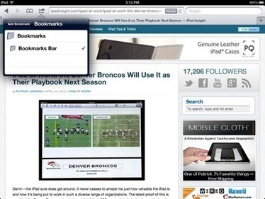 Cool Things: Bookmarklet to Share to Google+ from Safari on the iPad — iPad Insight | ipadseducation | Scoop.it