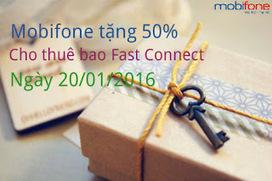 Mobifone tặng data bằng 50% thẻ nạp Fast Connect ngày 20/1/2016 | Dịch vụ di động | Scoop.it