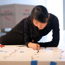 VIDEO: Chinese Artist Cui Fei Traces Her Philosophical Sand-Paintings at MAD  | Artinfo | The Aesthetic Ground | Scoop.it
