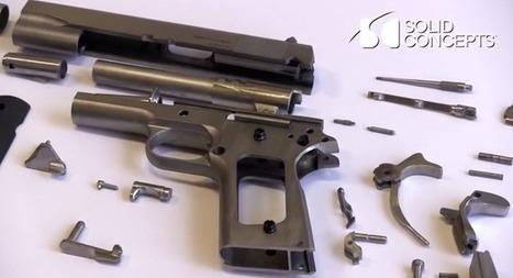 Impression 3D : un colt M1911 imprimé tire plus de 50 coups | Seniors | Scoop.it