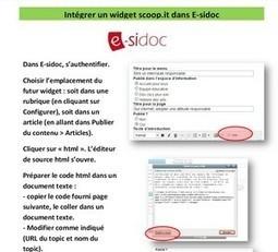Insérer un widget scoop.it dans e-sidoc - Canopé académie de Dijon | Scoop.it, un outil de curation ? | Scoop.it