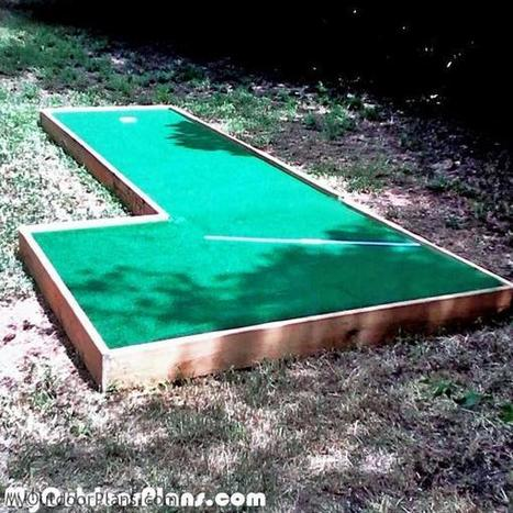 DIY Mini Golf | MyOutdoorPlans | Free Woodworking Plans and Projects, DIY Shed, Wooden Playhouse, Pergola, Bbq | Garden Plans | Scoop.it