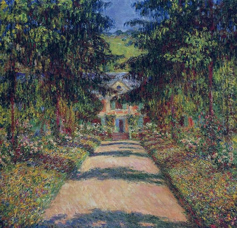 Oil painting reproduction: Claude Oscar Monet Pathway In Monets Garden At Giverny - Artisoo.com | Landscapes oil paintings | Scoop.it