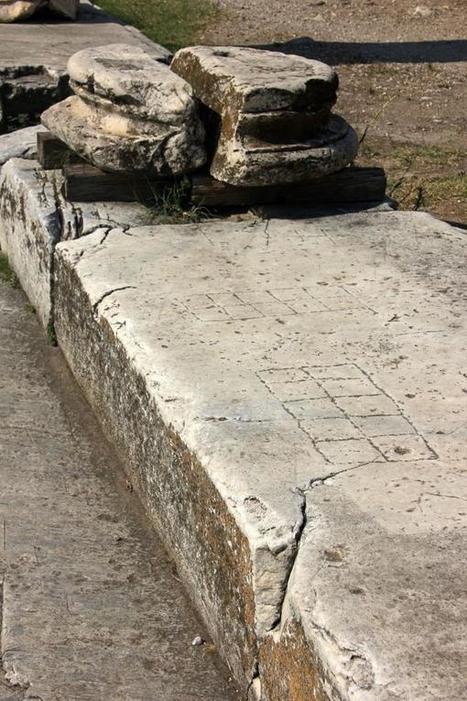 Gareth Harney on Twitter: Gaming boards engraved on marble paving, Roman Forum, Athens #roman #archaeology http://t.co/cCpushZkim | Augustus - Princeps, Rome and the Roman Empire | Scoop.it