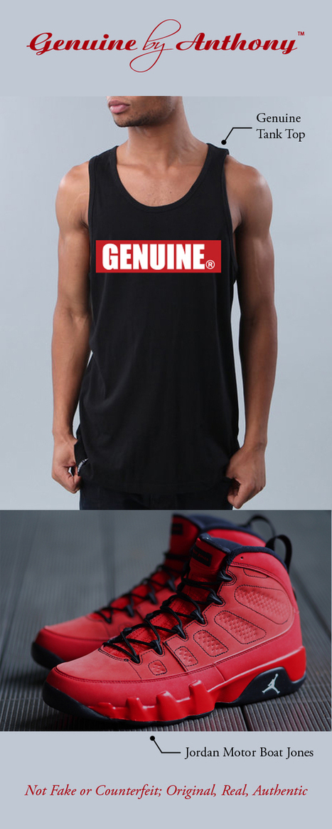 Original Genuine Tank Top Re-stock | Genuine by Anthony | Fashion . Art . Music . Entertainment | Scoop.it
