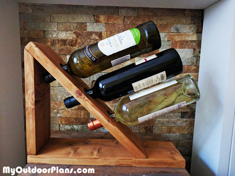 DIY Table Wine Rack | MyOutdoorPlans | Free Woodworking Plans and Projects, DIY Shed, Wooden Playhouse, Pergola, Bbq | Garden Plans | Scoop.it